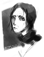 Harry potter sketches #3 - Severus Snape by Staerink