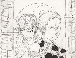 Kenshi no Chikai +Lineart+ by CanadianGothStalker