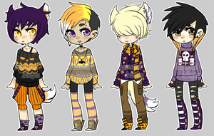 Halloween Sweater Adopts (CLOSED) by Assorted-Adopts