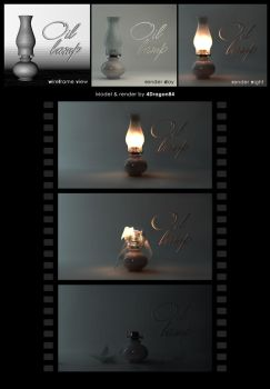 Oil lamp (test render) by 4Dragon84