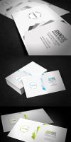 Clean Pentagon Business Card by glenngoh