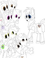 Any pony Got His Hoofs Full work 1 by daylover1313