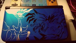 Got my 3ds signed by Jessie's voice actor. c: by Hofftits
