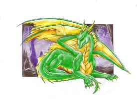 My first dragon by Navarose