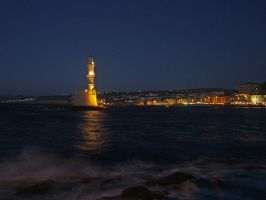 Evening in Chania by Mprintochainis