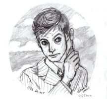 """10th Doctor - """"Speed"""" Sketch by Maija"""