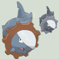Fakemon Sharkrang by mssingno