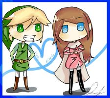 Link x Himeko by girlz-rock