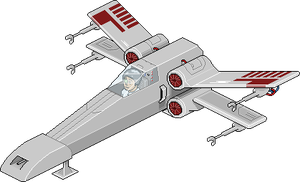 X Wing fighter (Habbo Style) by radioactivity
