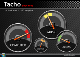 Tacho dock icons by Carburator