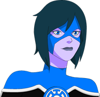 DC/YOUNG JUSTICE OC: Blue Lantern (Sister T'rinn) by FrozenStrike
