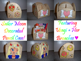 Sailor Moon Pencil Box by The-Rainbow-Faerie