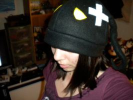 Sad Shadow Heartless Fleece Hat by ManaInk
