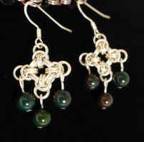 Bloodstone Cross by chainmaille