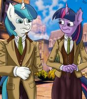 cross :twilight and shining armour in... by gino456