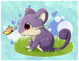 Baby Rattata by Isi-Daddy