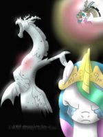 Celestia x Discord by Golden-Freddy-1337