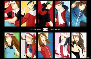 Pokemon Trainers by chocographs