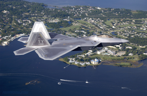 F22 Raptor in Flight by pilotroom