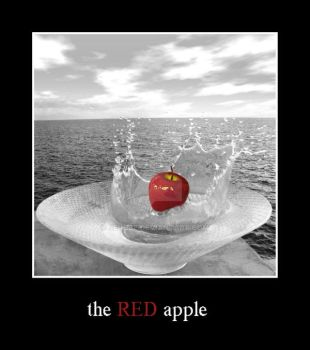 the RED apple by Je-Nice