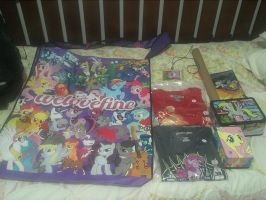 My Complete Swag from Big Apple PonyCon 2013 by DestinyDecade