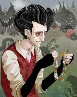 Don't Starve_Wilson and Flowers_Color by Clavicl6