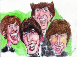 The Beatles by ClairBlueArt