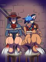 Interrogation by feathers {Commission} by Azure-Arts
