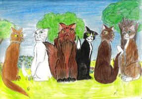 Discworld Cats, the wizards. by Ludicrous1