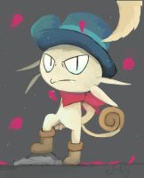 Tyson's swaggin' meowth by FireflyThe5th
