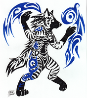 Striped Hyena Tribal Commish by Tatta-doodles