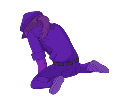 Vector - Vincent/Purple Guy Crying by shadethecb