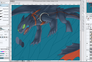 Alpha Duo (Toothles WIP) by piku-chan