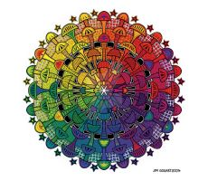 Inspiration - Hand Drawn then Digitally coloured by Mandala-Jim