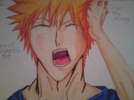 Cute ichigo yawning by arschra