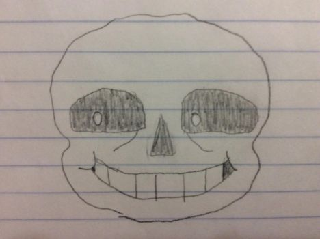 Drawn Looking Left Sans Face (Battle Sprite) by Andrew-avyx