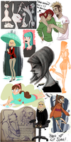 Tumblr Doodles 4 by Journye