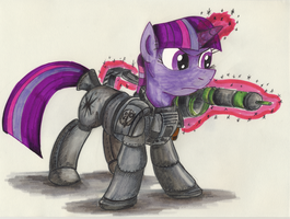 Comission - Paladin Twilight Sparkle by jamescorck