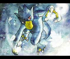 No.55 Golduck by GalletoconK