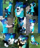 Gravity fursuit partial by AlieTheKitsune
