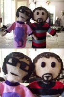 Bret and Jemaine Puppets by ResidentofBoxFive
