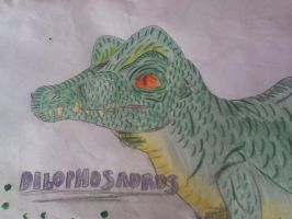 Random Dilophosaurus drawing by Koala-Sam