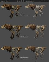 Skeleton Wolf Detail Variations by 100chihuahuas
