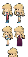 All Dash's outfits in D.A.I.G. by FabyTetrix