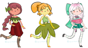 Adventure Time Flower Adopts-OPEN by aquadopts