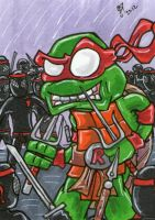 Raphael vs The Foot Clan PSC by johnnyism