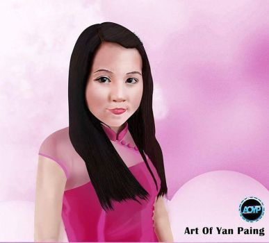 Portrait Digital Painting by aoyp
