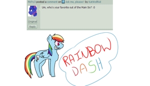 Rainbow Dash (Q/A) by KatWolfKid