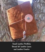 Handmade leather book by ReneeRutherford