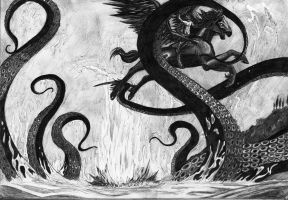 Perseus and the Kraken by OliviaPaige010